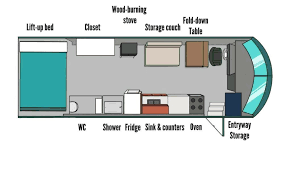 school bus conversion floor plans georgia couple convert old blue bird school bus into a cozy home