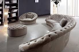 round sectional couch leon fabric sectional sofa chair and round ottoman fabric