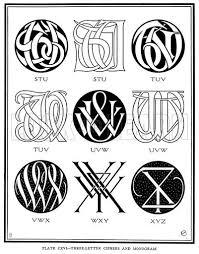 Letter Monogram Three Letter Ciphers And Monogram Stu Tuv Uvw Vwx Wxy Xyz