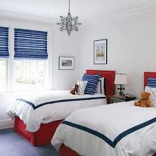 Red And Blue Boys Bedroom - blue and red boys u0027 bedroom contemporary boy u0027s room anne