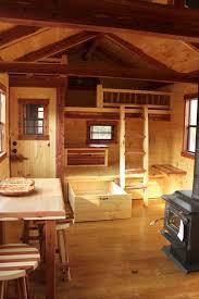 fascinating small cabin interior design with loft interior