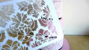 halloween cake stencils damask wedding cake u0026 how to use the damask cake stencil youtube