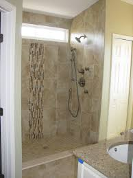 home decor small shower area interior with ivory marble glass