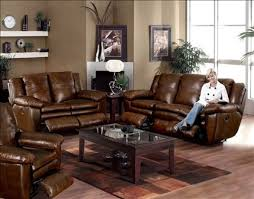Living Room Decor With Brown Leather Sofa Attractive Living Room Decor Ideas With Brown Furniture Brown