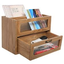 wooden pencil holder plans amazon com 3 compartment classic brown wood desktop office supply