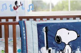 Rock N Roll Crib Bedding Snoopy Baby Bedding And Peanuts Baby Crib Sets