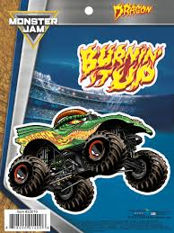 monster jam truck specs monster jam dragon truck decals car stickers monster jam truck