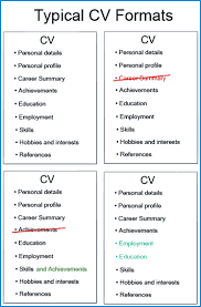 Formatting Education On Resume 4 Examples Of The Best Cv Formats And Layouts Cv Plaza
