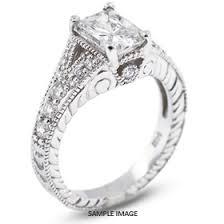 semi mount engagement rings platinum vintage style semi mount engagement ring with halo with