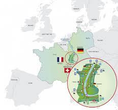 Freiburg Germany Map by Upper Rhine Valley