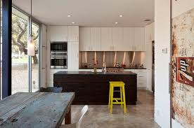 yellow bar stools kitchen contemporary with beadboard wall black