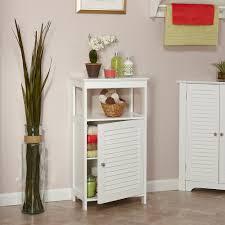 Single Door Design by Riverridge Home Ellsworth Single Door Floor Cabinet White