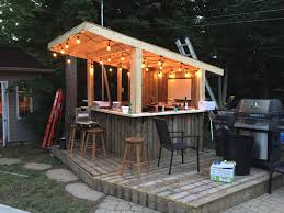 tiki bar backyard pool bar built with old patio wood yard