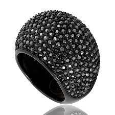 swarovski rings black images Swarovski stone ring jet hermatite swarovski ladies jewelry jpg