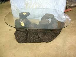 black bear coffee table black bear coffee table with glass top black bear coffee table glass