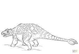 ankylosaurus dinosaur coloring page free printable coloring pages