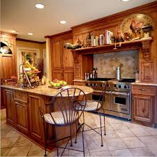 small rustic kitchen ideas brown tile backsplash white cabinets