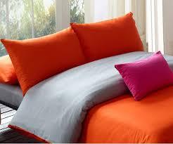 bedding modern orange grey duvet set twin queen king comforter