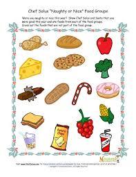 kids u0027 food groups christmas worksheet