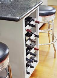 kitchen island with wine storage clever ways to store wine mccormick design