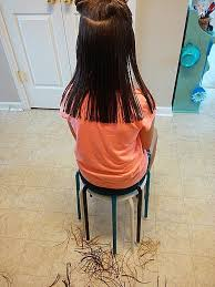 how to cut hair straight across in back how to cut long hair diy beautify