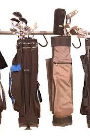 Garage Golf Bag Organizer - two golf bag organizer sports gear storage club shoes putter ball