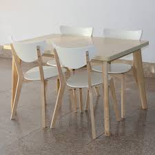 Birch Dining Table And Chairs Ikea Style Birch Dinette Table Chair Dining Table And Four Chairs