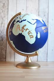 world globe home decor hand painted globe with continents 10 diameter world