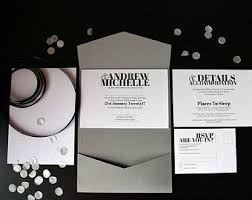 Invitations For Weddings Pocket Invitations Etsy