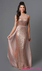 elizabeth k designer sequin long prom dress promgirl