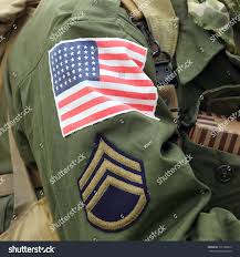 Army Uniform Flag Patch Flag Patch On American Soldier Staff Stock Photo 101788873