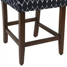 homepop classic parsons counter stool textured navy homepop
