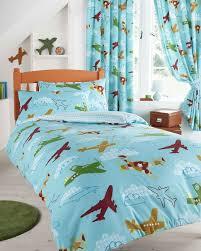 Uk Single Duvet Size Boys Aeroplane Design Single Duvet Cover Bed Set Amazon Co Uk