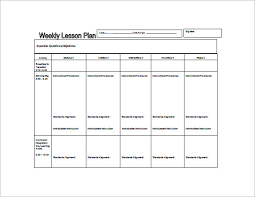 weekly lesson plan template u2013 8 free word excel pdf format