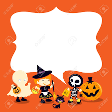 halloween kids cartoons a cartoon vector illustration of a group of halloween kids and