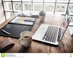 M El Schreibtisch Business Objects Büro Arbeitsplatz Schreibtisch Konzept Stockfoto