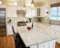 White Kitchen Cabinets And White Countertops Kitchen Backsplash With Granite Countertops Design Pictures