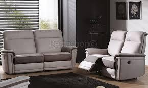 canapé 3 2 tissu ensemble canapé 3 2 places en tissu coloris gris decor brun 3