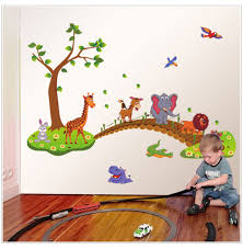 popular trees animal buy cheap trees animal lots from china trees new removable eco cute cartoon animals tree wall decals children bedroom room decor wall stickers removable