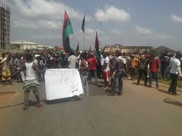 Biafra Flag Pro Biafra Protest Rocks Imo The Nation Nigeria