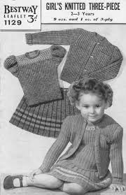 vintage knitted childrens clothes patterns available from the