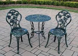 amazon com rose 3 piece bistro patio set verdi green aluminum