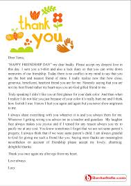 thank you letter for a friend sle