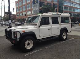 land rover defender 4 door interior street parked 1993 defender 110 startinggrid