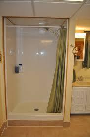 Bathroom Shower Stalls With Seat Removing Fiberglass Shower Stalls Home Romances