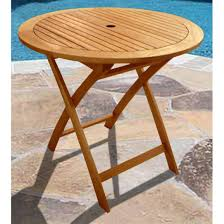 Patio Accent Table by Vifah Round Outdoor Wood Folding Table 218660 Patio Furniture At