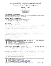 Resume Objective Examples For Students by Undergraduate Student Resume Sample Haadyaooverbayresort Com
