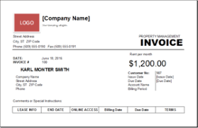 Property Management Excel Template Property Management Invoice Template Excel Invoice Templates
