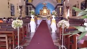 manaoag church wedding church decoration and arrangement by vg