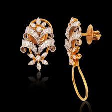stylish gold earrings nac product detail stylish diamond yellow gold earrings